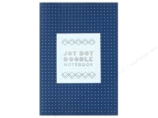 Jot Dot Doodle Notebook - Blue and Silver