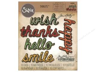 die cuts: Sizzix Dies Tim Holtz Thinlits Shadow Script #2