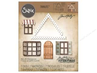 die cutting machines: Sizzix Dies Tim Holtz Thinlits Village Fixer Upper