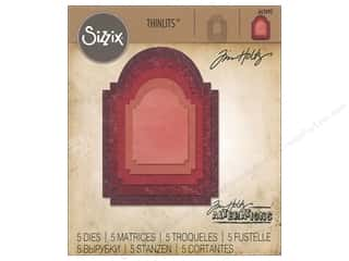 die cuts: Sizzix Dies Tim Holtz Thinlits Stacked Archway