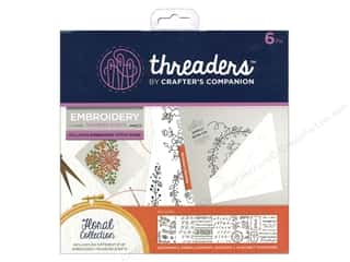 sewing & quilting: Crafter's Companion Threaders Embroidery Transfer Sheets Floral