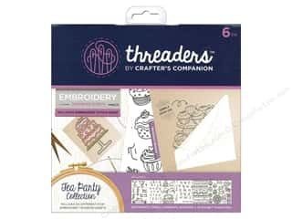 sewing & quilting: Crafter's Companion Threaders Embroidery Transfer Sheets Tea Party