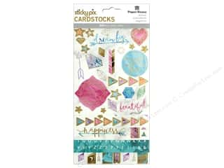 stickers: Paper House Sticker Cardstock Marbleous