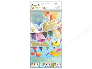 stickers: Paper House Sticker Cardstock Color Washed
