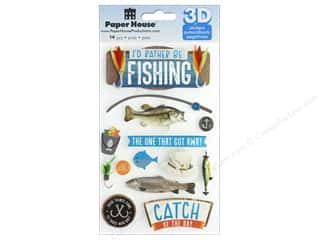 Paper House Sticker 3D I'd Rather Be Fishing