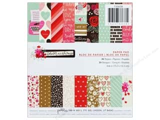 scrapbooking & paper crafts: Pebbles Collection Forever My Always Paper Pad 6 in. x 6 in.