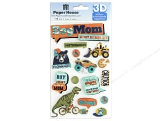 stickers: Paper House Sticker 3D Boy Mom