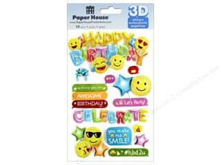 Paper House Sticker 3D Emoji Birthday