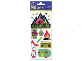 scrapbooking & paper crafts: Paper House Sticker Enamel Glamping
