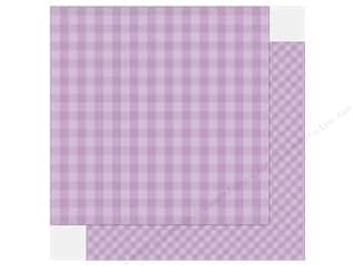 Echo Park Collection Dot & Stripe Spring Paper  12 in. x 12 in.  Huckleberry