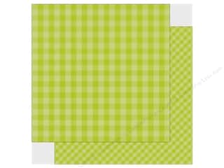 Echo Park Collection Dot & Stripe Spring Paper 12 in. x 12 in. Key Lime