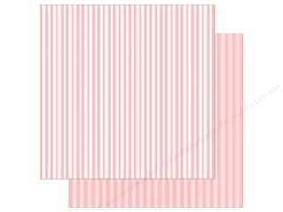 Echo Park Collection Dot & Stripe Spring Stripe Paper 12 in. x 12 in.  Strawberry