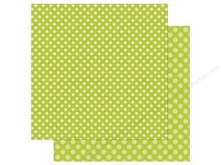 Echo Park Collection Dot & Stripe Spring Dot Paper 12 in. x 12 in.  Key Lime