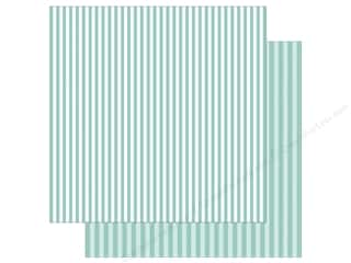 Echo Park Collection Dot & Stripe Spring Stripe Paper  12 in. x 12 in.  Blueberry