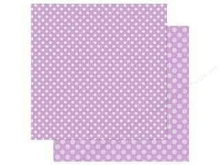 Echo Park Collection Dot & Stripe Spring Dot Paper 12 in. x 12 in. Huckleberry
