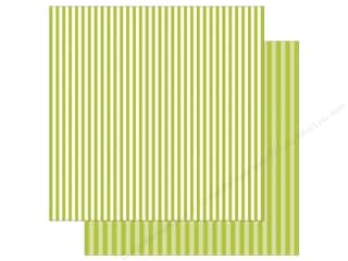 Echo Park Collection Dot & Stripe Spring Stripe Paper 12 in. x 12 in. Key Lime