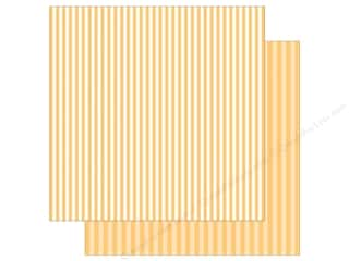 Echo Park Collection Dot & Stripe Spring Stripe Paper 12 in. x 12 in.  Banana Cream