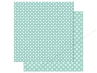 Echo Park Collection Dot & Stripe Spring Dot Paper  12 in. x 12 in.  Blueberry