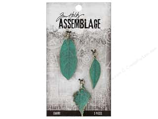 Clearance: Tim Holtz Assemblage Charms Leaves Patina