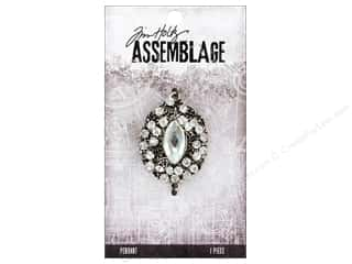 beading & jewelry making supplies: Tim Holtz Assemblage Pendant Jeweled Regalia