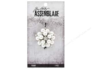 beading & jewelry making supplies: Tim Holtz Assemblage Pendant Pearl Cluster