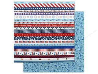 Pebbles Land That I Love Paper 12 in. x 12 in. Happy 4th (25 pieces)
