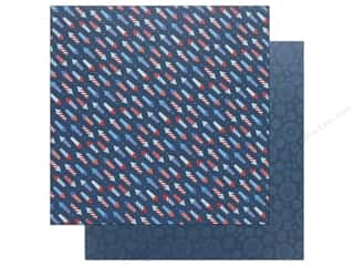 scrapbooking & paper crafts: Pebbles Land That I Love Paper 12 in. x 12 in.  Fireworks (25 pieces)
