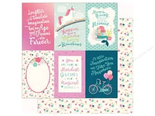 "Echo Park Imagine That Girl Paper 12""x 12"" Journaling Card 4""x 6"" (25 pieces)"