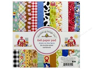 Doodlebug Collection Down On The Farm Paper Pad 6 in. x 6 in.