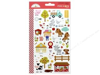 scrapbooking & paper crafts: Doodlebug Collection Down On The Farm Sticker Mini Icons (12 sets)