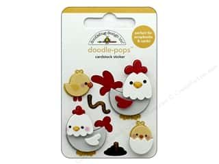 scrapbooking & paper crafts: Doodlebug Collection Down On The Farm Doodle Pops Hen & Chicks