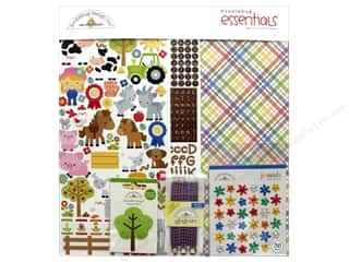 scrapbooking & paper crafts: Doodlebug Collection Down On The Farm Essentials Kit