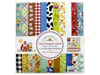 Doodlebug Collection Down On The Farm Paper Pack 12 in. x 12 in. Farm