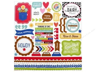 scrapbooking & paper crafts: Doodlebug Collection Down On The Farm Sticker This & That (12 pieces)