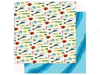 summer splash: Carta Bella Collection Summer Splash Paper 12 in. x 12 in. Gone Fishing (25 pieces)