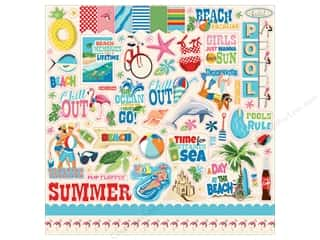 summer splash: Carta Bella Collection Summer Splash Sticker 12 in. x 12 in. (15 pieces)