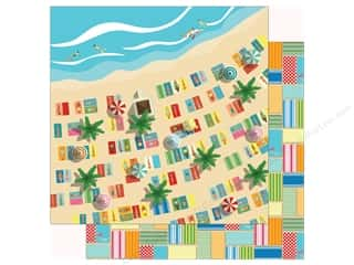 summer splash: Carta Bella Collection Summer Splash Paper 12 in. x 12 in. Seaside (25 pieces)