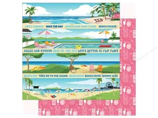 summer splash: Carta Bella Collection Summer Splash Paper 12 in. x 12 in. Border Strips (25 pieces)