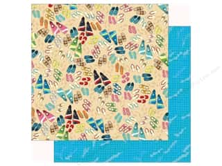summer splash: Carta Bella Collection Summer Splash Paper 12 in. x 12 in. Toes In Sand (25 pieces)
