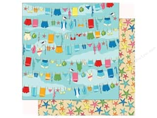 summer splash: Carta Bella Collection Summer Splash Paper 12 in. x 12 in. Beach Day (25 pieces)