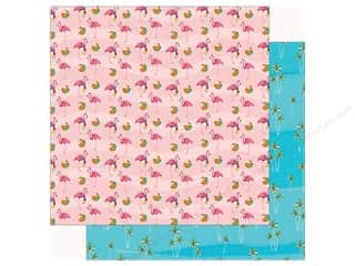 summer splash: Carta Bella Collection Summer Splash Paper 12 in. x 12 in. Flamingo Fun (25 pieces)