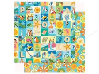 summer splash: Carta Bella Collection Summer Splash Paper  12 in. x 12 in. Beach Square (25 pieces)