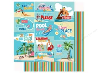 summer splash: Carta Bella Collection Summer Splash Paper 12 in. x 12 in. Scene Journaling Cards (25 pieces)