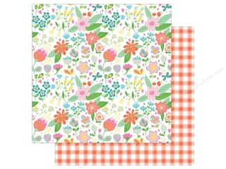 Photo Play Collection  Made 4 Plaid Happy Paper  12 in. x 12 in. Flowers