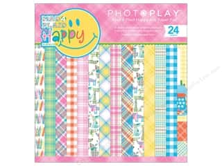 Photo Play Collection  Made 4 Plaid Happy Paper Pad 6 in. x 6 in.