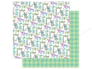 Photo Play Collection  Made 4 Plaid Happy Paper 12 in. x 12 in. Dogs