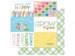 Photo Play Collection  Made 4 Plaid Happy Paper 12 in. x 12 in. Colors