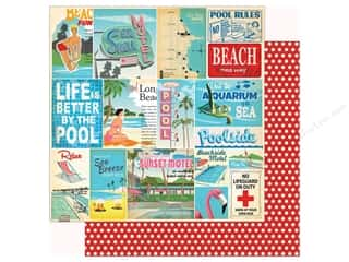 Carta Bella Collection Summer Splash Paper 12 in. x 12 in.  Vacation Journaling Cards (25 pieces)