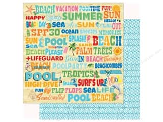 summer splash: Carta Bella Collection Summer Splash Paper 12 in. x 12 in. Splash Words (25 pieces)