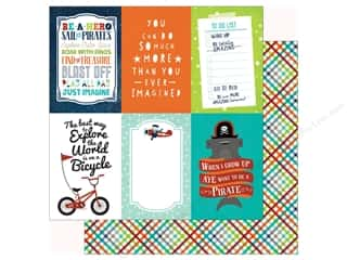 Echo Park Imagine That Boy Paper 12 in. x 12 in. Journaling Card 4 in. x 6 in. (25 pieces)